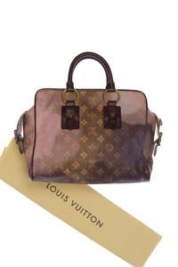 LOUIS VUITTON PARIS - coated-handtasche mit leder-details -